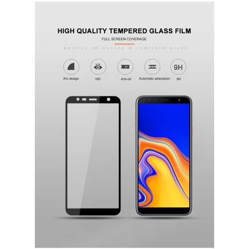 Tempered Glass till Samsung Galaxy J4 Plus - Svart