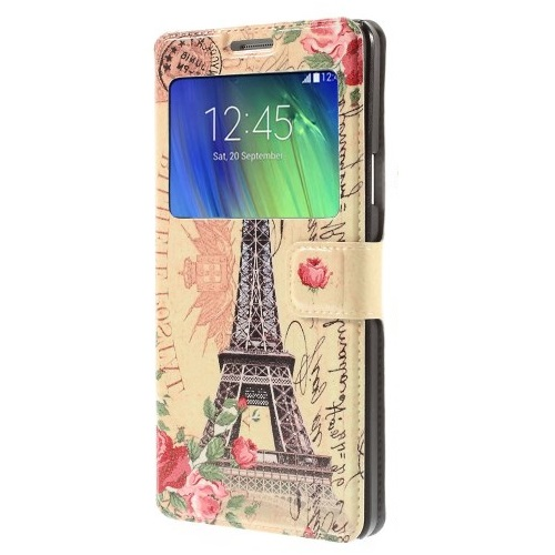 Mobilfodral med Fönster till Samsung Galaxy A7 - Eiffeltornet