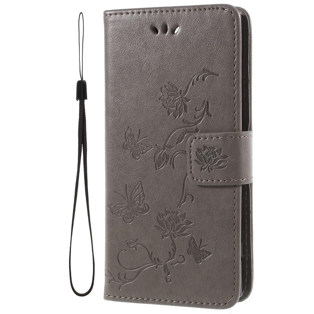 Butterfly Plånboksfodral till Sony Xperia XA2 - Grå