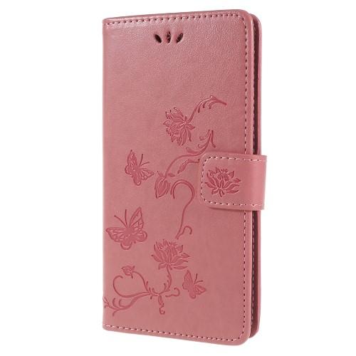 Plånboksfodral till Sony Xperia XZ2 - Rosa Fjäril