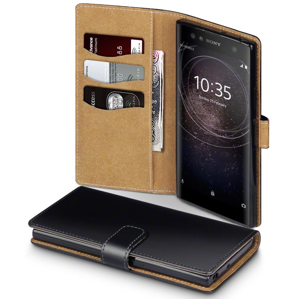 Brun Interior Plånboksfodral Sony Xperia XA2 Ultra - Svart