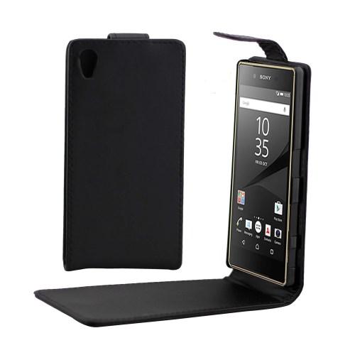 Vertical Flip fodral till Sony Xperia Z5 - Svart