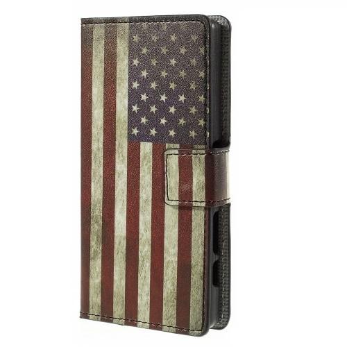 Plånboksfodral till Sony Xperia Z5 Compact - America