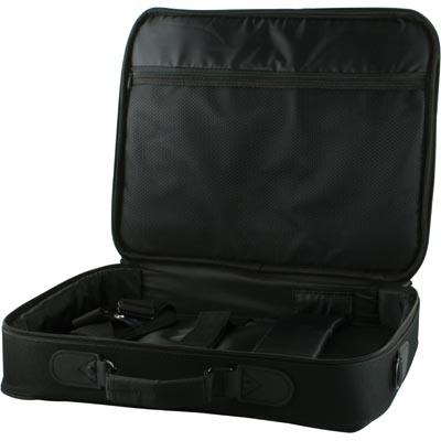 """DELTACO notebookväska i nylon, 15"""", bärhandtag & axelrem, svart"""
