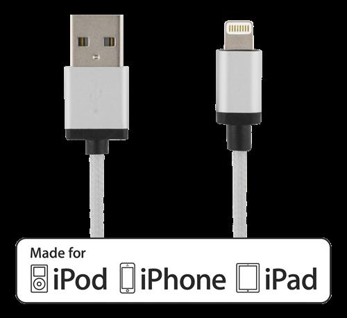 Deltaco Lightning laddare iPhone snabbladdare 2,4A