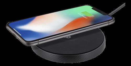 Deltaco Trådlös Snabbladdare för iPhone Android, 10W