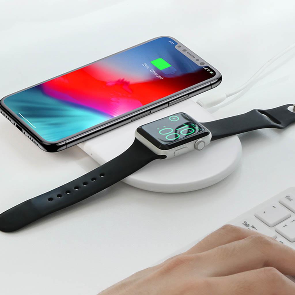 Köp Baseus Smart 2 i 1 Trådlös Laddare för Apple Watch och