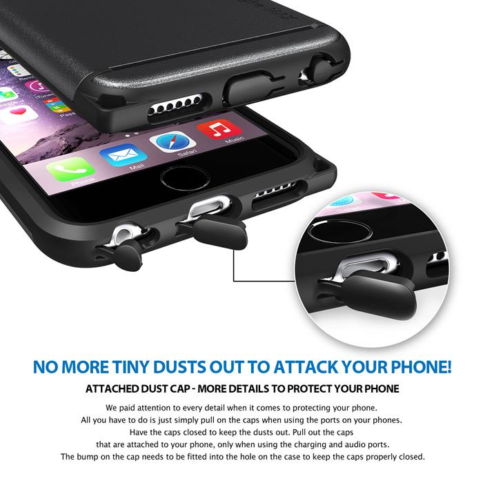 Ringke MAX Double Layer Armor Tough Skal till Apple iPhone 6(S) Plus - Svart