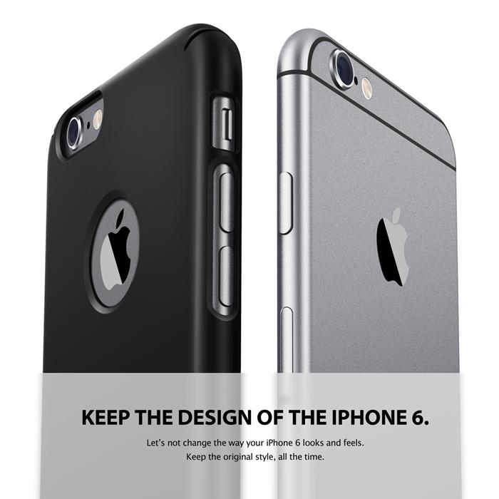 Ringke Logo-Cut Slim Dual Coated Skal till Apple iPhone 6(S) Plus - Gun Metal