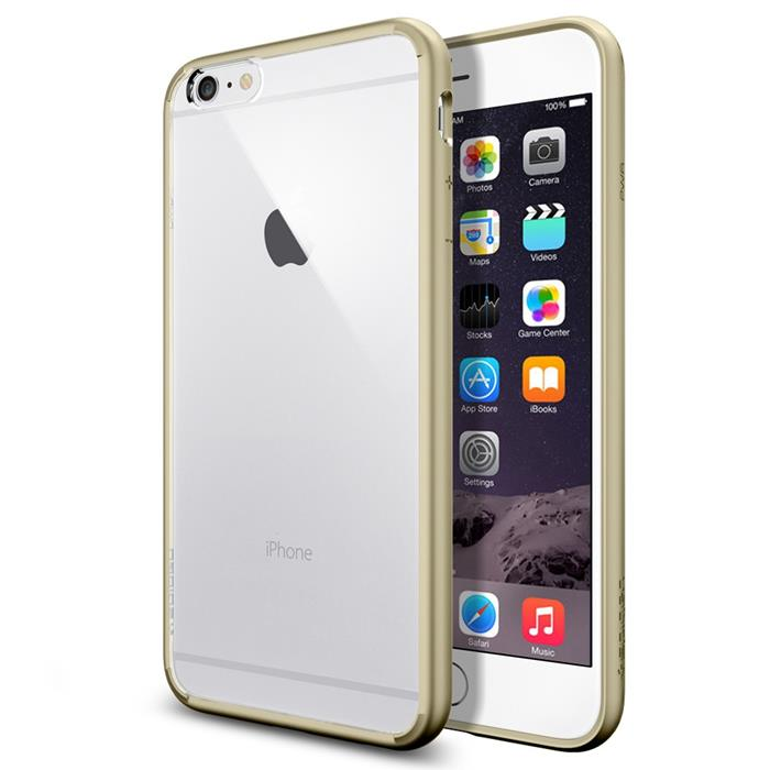 SPIGEN Ultra Hybrid skal till Apple iPhone 6(S) Plus (Gold ... d1cd84eacaf7b