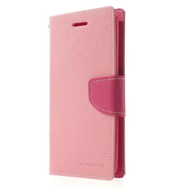 Mercury Fancy Plånboksfodral till Samsung Galaxy S5 - Rosa