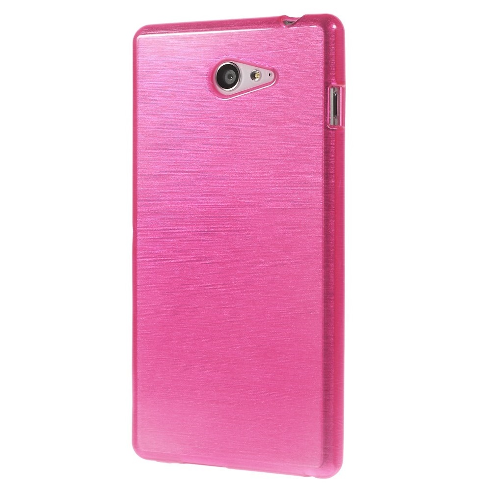 Brushed Flexicase Skal till Sony Xperia M2 - Magenta