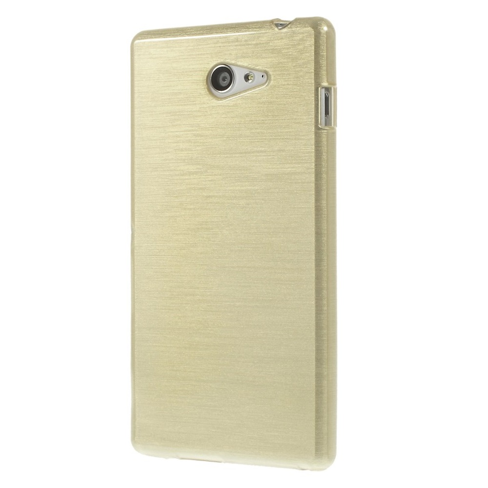 Brushed Flexicase Skal till Sony Xperia M2 - Champagne