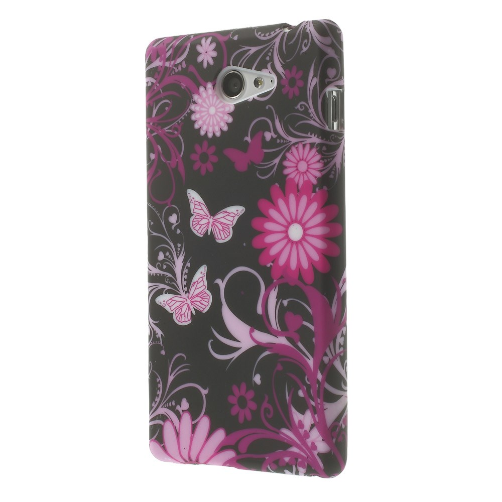 Skal till Sony Xperia M2 - Black Butterfly