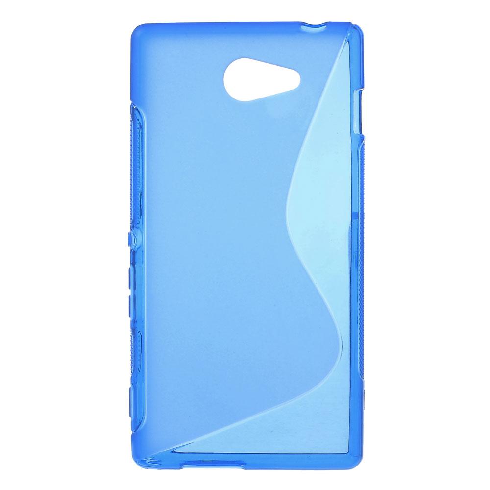 FlexiCase Skal till Sony Xperia M2 - Blå