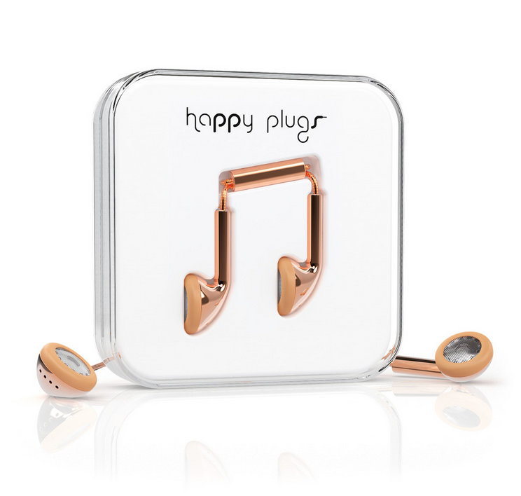 Happy Plugs Earbud (Rose Gold)