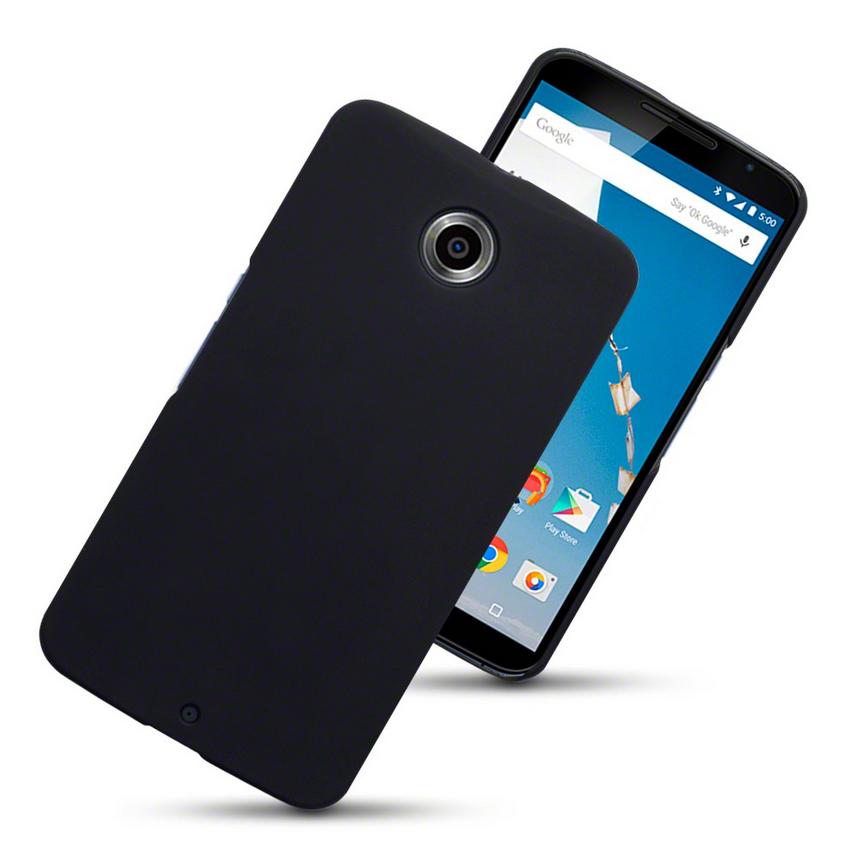 Google Nexus 6 Hybrid Rubberised Case - Svart