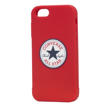 CONVERSE Apple iPhone 5/5S/SE Silicon Röd Skyddsfodral