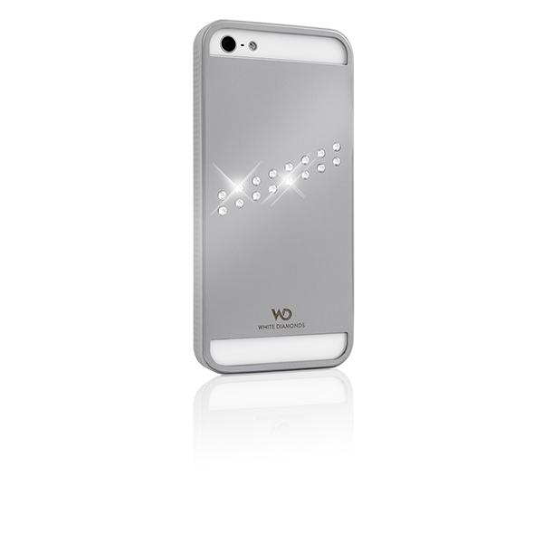 WHITE-DIAMONDS Metal Silver Apple iPhone 5/5S/SE Stream