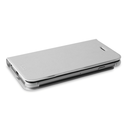 Puro Apple iPhone 6(S) Plus Eco-Leather Cover - Silver