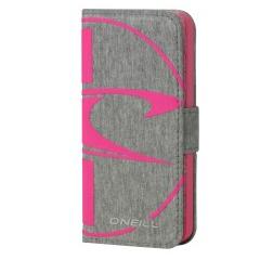 O'Neill plånboksfodral till iPhone 5/5S - Grå/Rosa