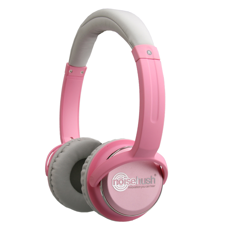 NoiseHush NX26 3.5mm Stereo Headphones with In-Line Mic - (Rosa)