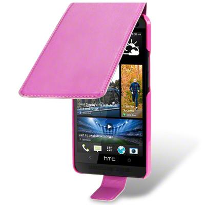 Flip Mobilväska - Fodral till HTC One (M7) (Rosa)