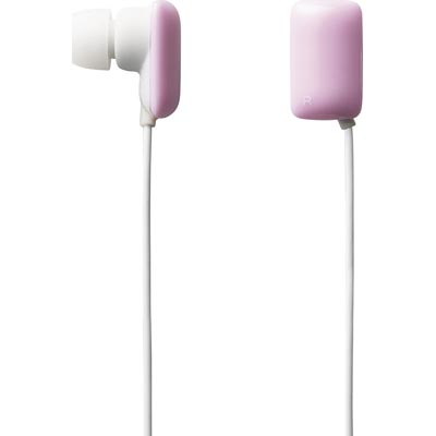 ELECOM GUM- In ear headphones - Baby Pink
