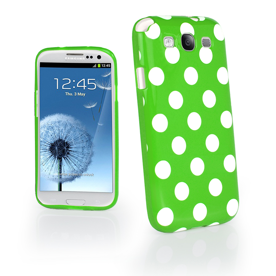 Polka dot FlexiCase Skal till Samsung Galaxy S3 i9300