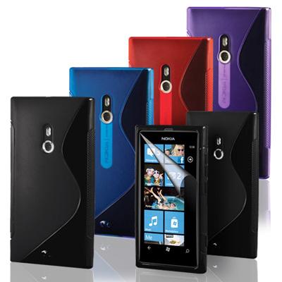 FlexiCase Skal till Nokia LUMIA 800 - (FROSTY-VIT)
