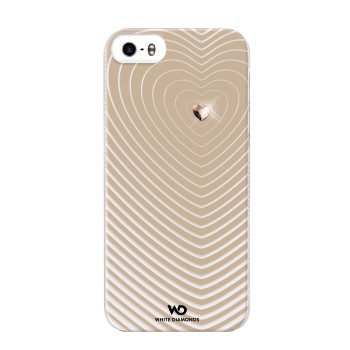 White Diamonds Heartbeat skal till Apple iPhone 5/5S/SE- Guld