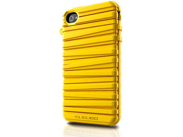 Musubo Rubber Band Silikonskal till Apple iPhone 4/4S - Gul
