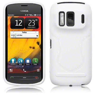 FlexiCase Skal till Nokia 808 PureView (Vit)