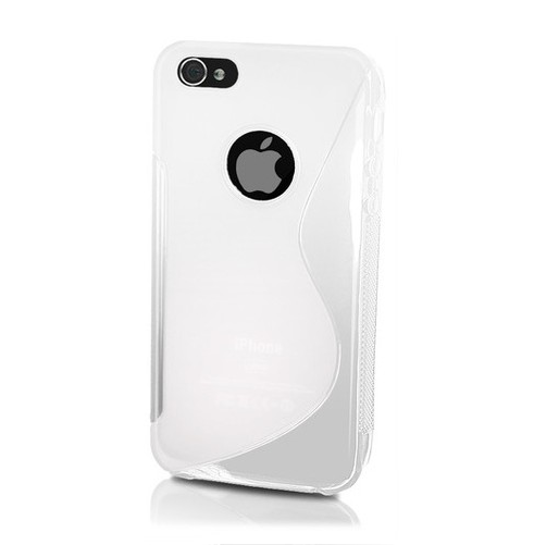 FlexiCase Skal till Apple iPhone 5/5S/SE - S-Line (Milk)