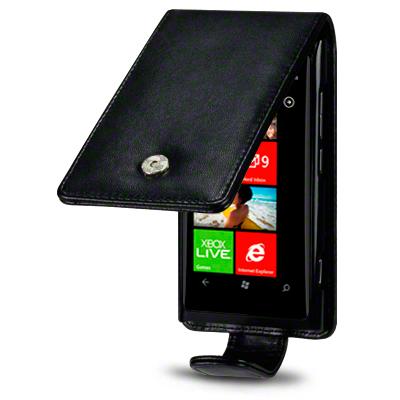 Flip Mobilväska till Nokia Lumia 800 (Svart)