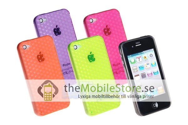 FlexiCase Skal till iPhone 4 - Hexagon (Orange)
