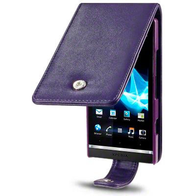 Mobilväska till Sony Xperia S LT26i (Lila)