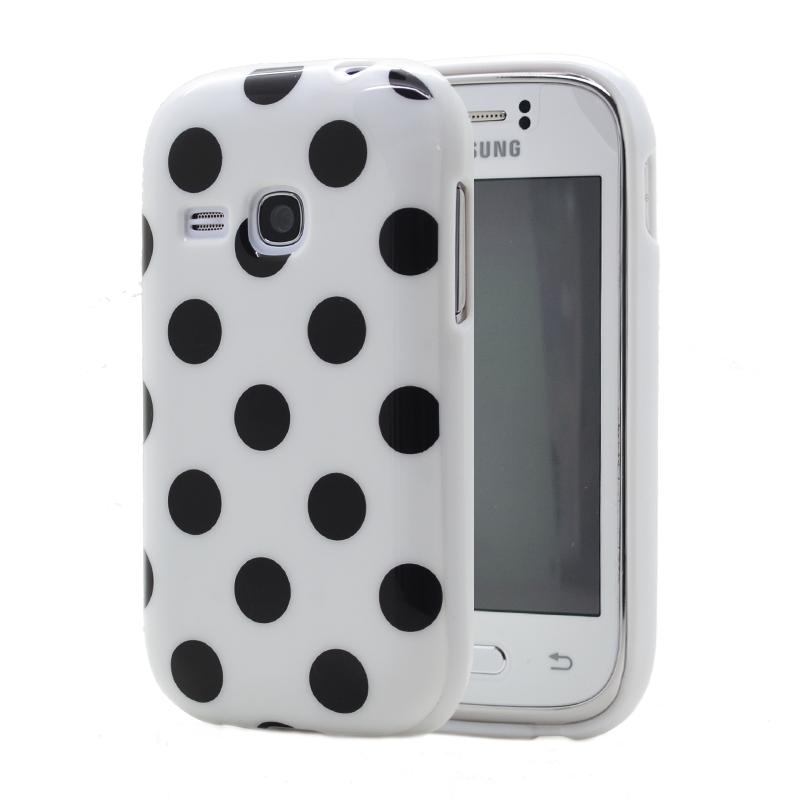 Polka dots FlexiSkal till Samsung Galaxy Young S6310
