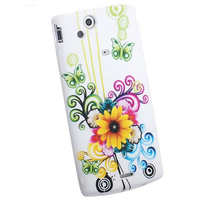 FlexiCase Skal till Apple iPhone 4 (Yellow Flower)