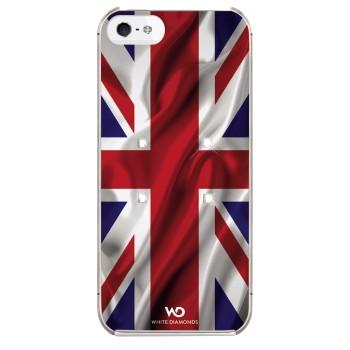 White Diamonds Flagga UK Apple iPhone 5/5S/SE Skal