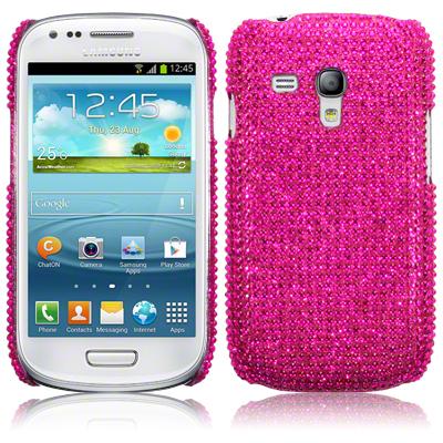 Bling Bling Skal till Samsung Galaxy S3 mini i8190 (Magenta)