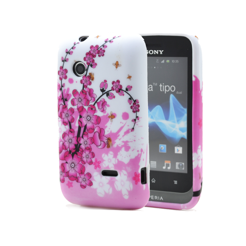 FlexiCase Skal till Sony Xperia Tipo ST21i - Sommar Rosa