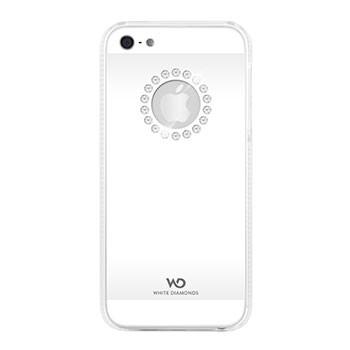 White Diamonds Metal Flower till Apple iPhone 5/5S/SE- Vit