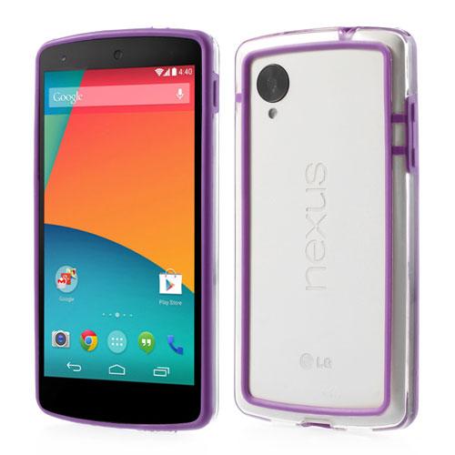 Bumper till LG Nexus 5 - Lila/Transparent