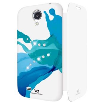 White Diamonds Liquids Booklet till Samsung Galaxy S4 i9500 - Blå