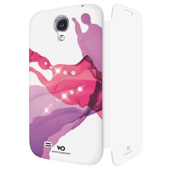 White Diamonds Liquids Booklet till Samsung Galaxy S4 i9500 - Rosa