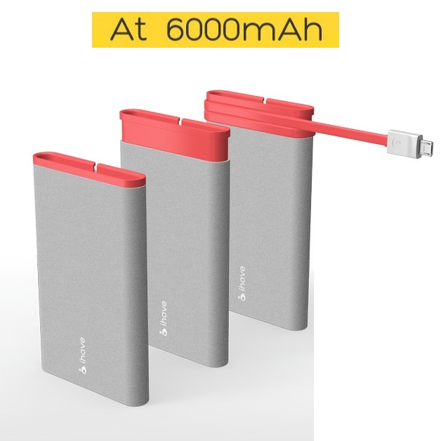 iHave AT Extern Powerbank 6000 mAh - (Blå)