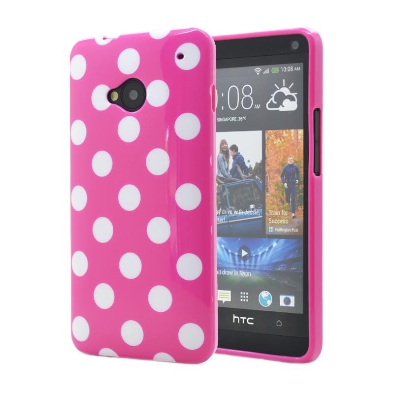 Polka dots FlexiSkal till HTC ONE / HTC M7