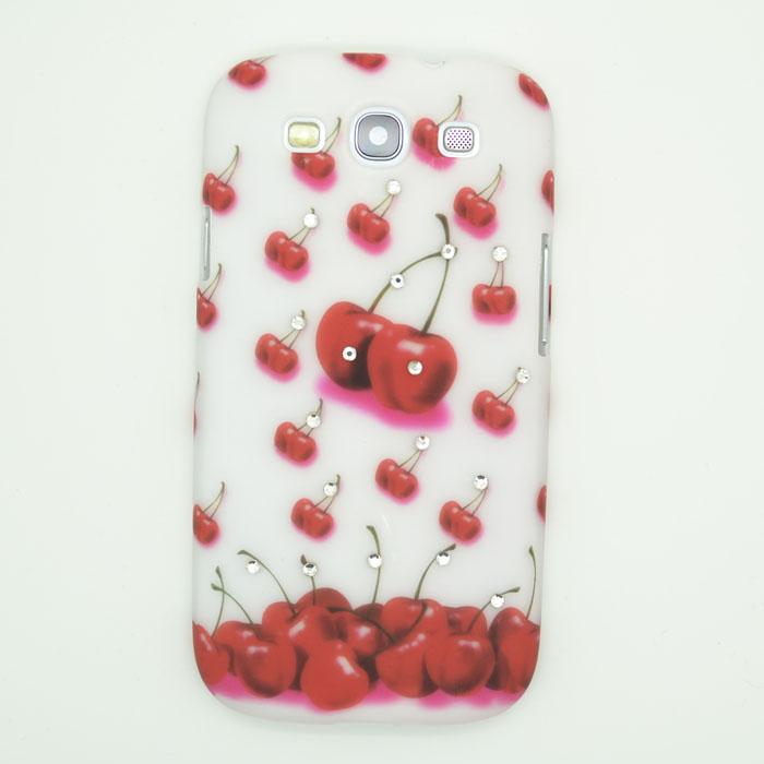 Diamant Baksideskal till Samsung Galaxy S3 i9300 Röda Körsbär