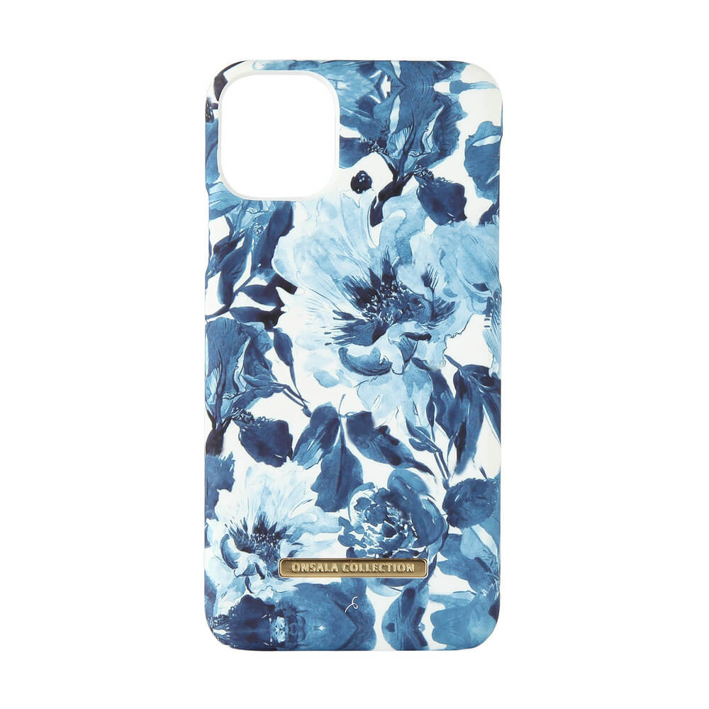 Onsala Collection Mobilskal iPhone 11 Pro Max - Soft Indigo Peony
